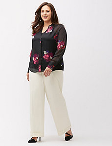 Shadow stripe floral blouse by MYNT 1792