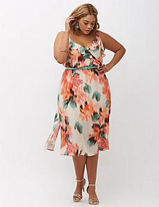 Ruffled Carwash Sundress by ABS Allen Schwartz
