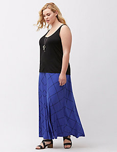 Simply Chic grid print maxi skirt