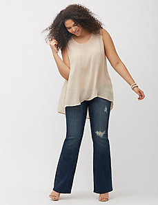 Destructed bootcut jean by Melissa McCarthy Seven7