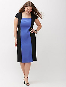 Infinite Stretch Colorblock dress