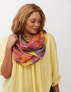 Multi colored eternity scarf