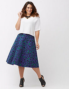 The Modernist floral circle skirt