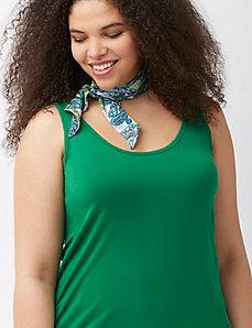 Paisley skinny scarf