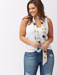 Starburst skinny scarf