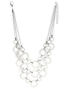 Tiered circle link necklace