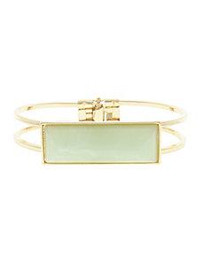Green Stone Hinge Bracelet