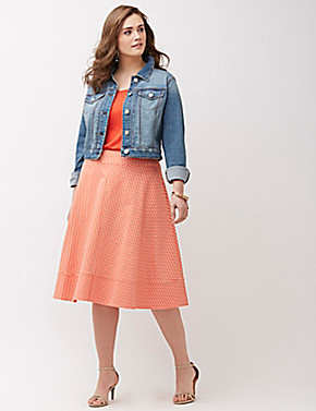 Cropped Denim Jacket, by Lane Bryant.
