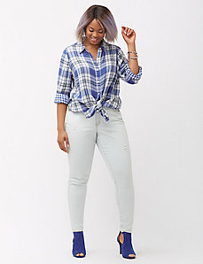 Genius Fit™ Skinny Crosshatch Jean