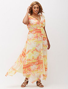 Chiffon overlay maxi