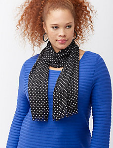 Polka dot skinny scarf