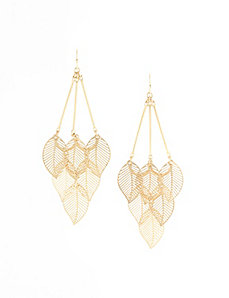Leaf waterfall earrings