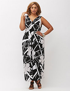 Simply Chic Draped Maxi Dress