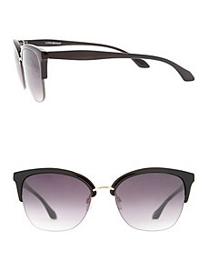Top rim sunglasses with hardware