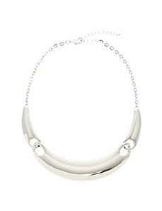 Silvertone collar necklace
