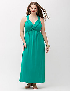 Strappy Basket Weave Maxi Dress
