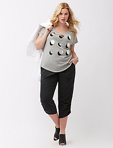 Foiled dots graphic tee