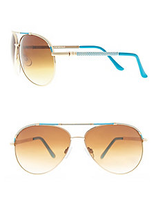 Colored aviator sunglasses