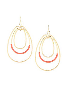 Textured & Threaded Triple Oval Earrings