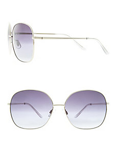 Grey mirrored aviator sunglasses