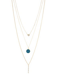 Multi-Layer CZ Stick Necklace