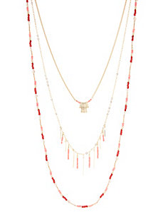 Layering Coral Beads Necklace