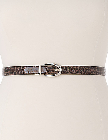 Classic reversible belt in plus sizes