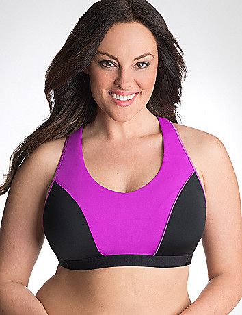 Adjustable racer back sport bra by Cacique