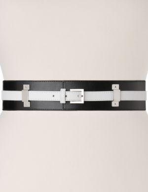 Colorblock stretch belt