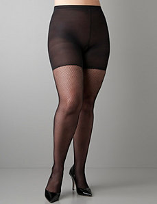 Spanx® control-top fishnets