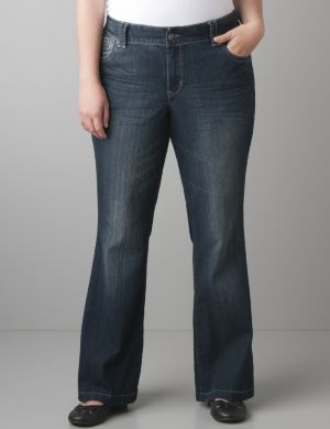 Lightly Flared jean with Right Fit Technology