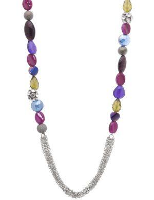 Layered chain and bead necklace by Lane Bryant