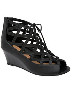 Ghillie wedge sandal by LANE BRYANT