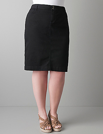 Plus size Twill pencil skirt by DKNY JEANS