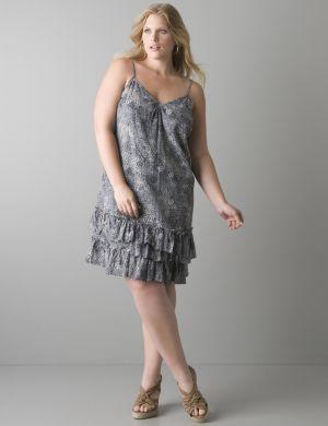 Star tile slip dress by DKNY JEANS