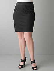 Shorter plus size ponte pencil skirt