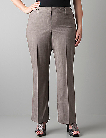 Plus size straight leg suit pant