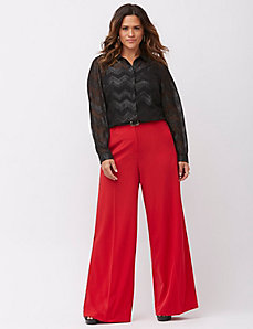 Lena Tailored Stretch extreme wide leg tuxedo pant