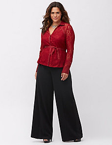 Belted lace top
