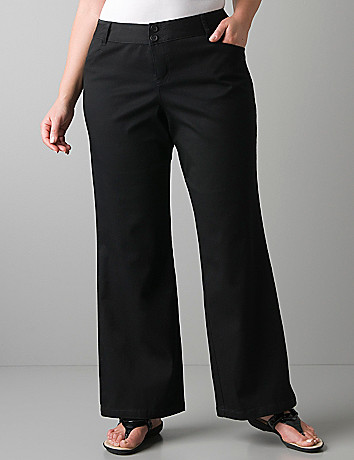 Plus size twill trouser by Lane Bryant