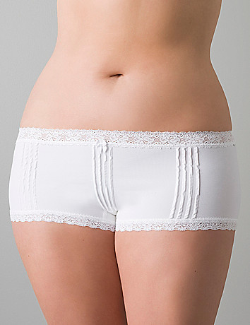 Pintuck seamless boyshort panty by Cacique
