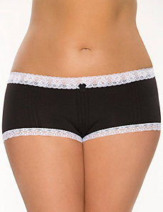 Seamless pintuck boyshort panty by Cacique