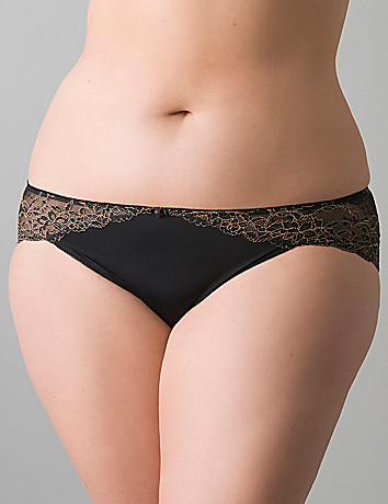 Plus size Luxury lace trim hipster panty