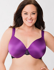 Lace trim full coverage bra