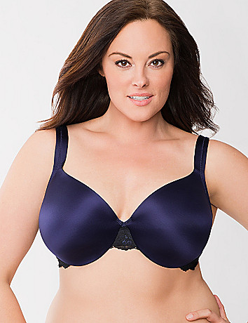 Lace trim full coverage bra by Cacique