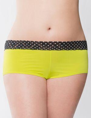 Sulphur Spring dot lace waist boy short