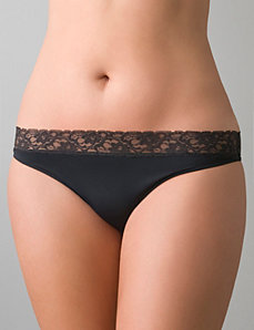 Beautiful lace waist thong panty