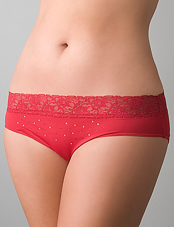 Runway Glam lace waist hipster by Cacique