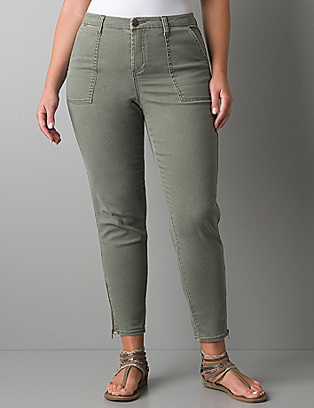 Plus size twill jegging by Lane Bryant