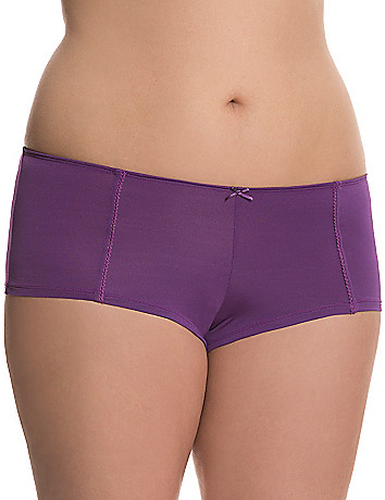 Lace trimmed boyshort panty by Cacique